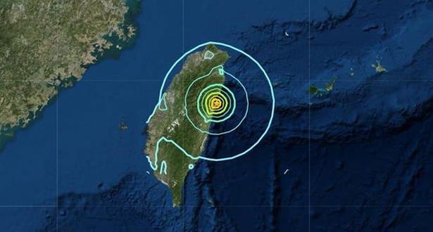 زلزال بقوة 6,1 درجات يهز تايوان