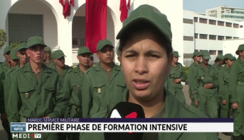 Service militaire: la première phase de formation intensive s'achève