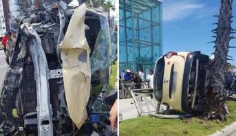 ضحايا في حادث انقلاب سيارة أجرة بطنجة