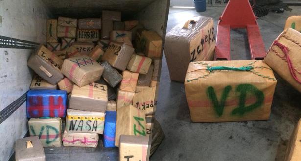 ميناء طنجة المتوسط .. إجهاض محاولة تهريب أزيد من 8 أطنان من مخدر الشيرا على متن شاحنة للنقل الدولي