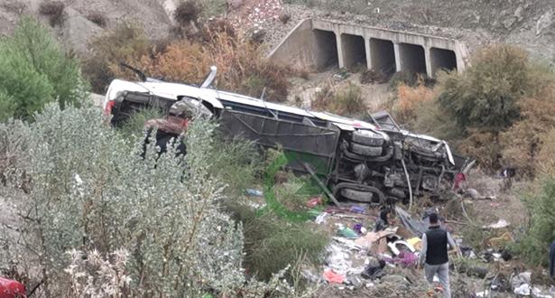 ارتفاع ضحايا حادثة انقلاب حافلة لنقل الركاب بإقليم تازة