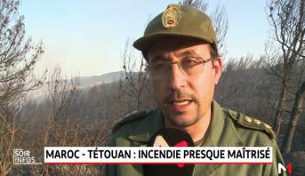 Tétouan: feu de forêt quasi circonscrit