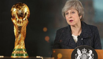 تيريزا ماي تدعم استضافة بريطانيا وإيرلندا لكأس العالم 2030