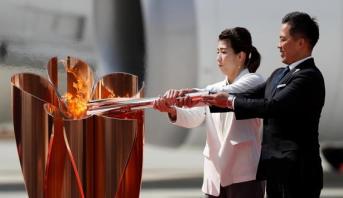 طوكيو 2020 .. ترحيب ياباني خجول بالشعلة وباخ يعتبر الإرجاء مبكرا