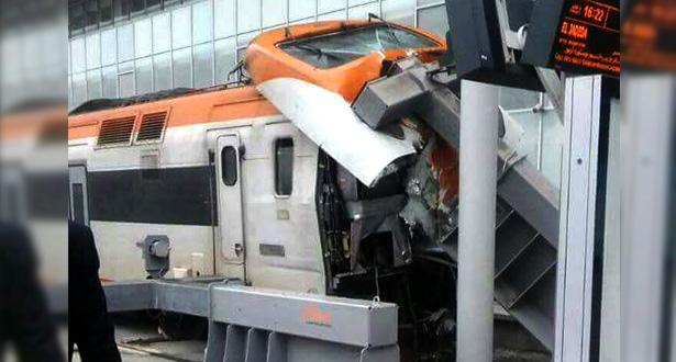 بلاغ لـ ONCF حول حادث اصطدام قطار بحاجز في محطة البيضاء الميناء