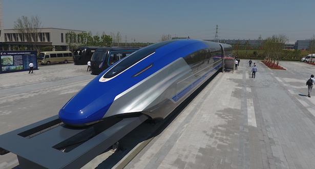 الصين تكشف النقاب عن نموذج قطار مغناطيسي بسرعة 600 كلم في الساعة