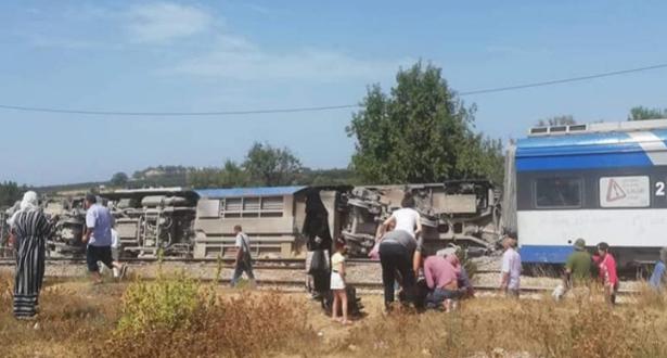 انقلاب قطار في تونس