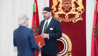 الملك محمد السادس يستقبل بالحسيمة والي بنك المغرب