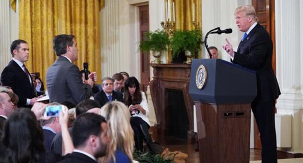 """شبكة """"سي ان ان"""" تقاضي البيت الأبيض بعد سحب تصريح دخول مراسلها"""