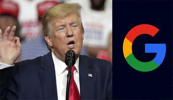 """ترامب يريد النظر في علاقة """"غوغل"""" بالصين"""