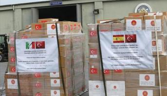 تركيا ترسل تجهيزات طبية إلى إسبانيا وإيطاليا