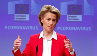 """الاتحاد الأوروبي يخصص 15 مليار يورو لمكافحة كورونا المستجد """"حول العالم"""""""