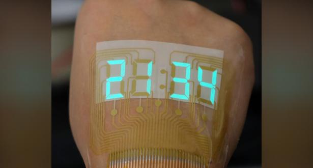 """""""أسيل"""" .. شاشة عرض مبتكرة تثبت على البشرة كالوشم"""