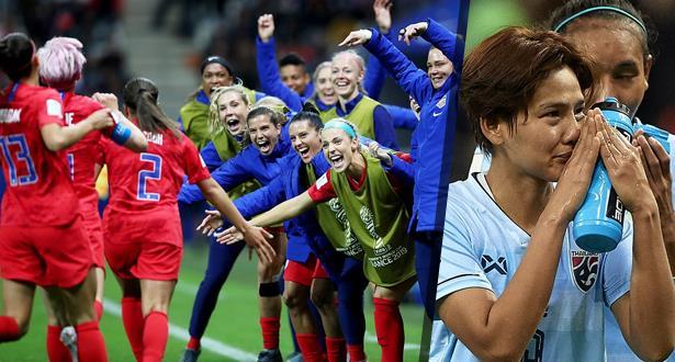 أمريكا تدشن حملة الدفاع عن لقب مونديال السيدات بـ 13 هدفا في مرمى تايلاند