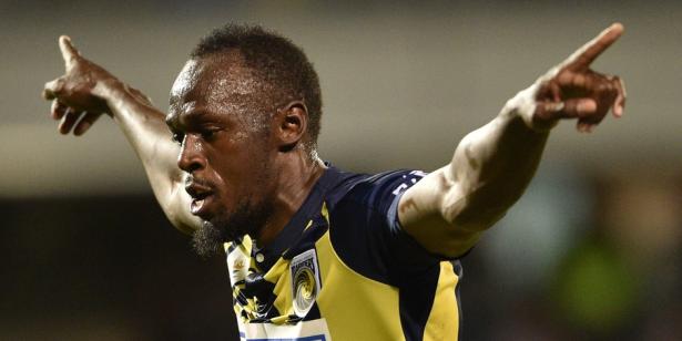 Usain Bolt marque un doublé pour sa première titularisation chez les pros
