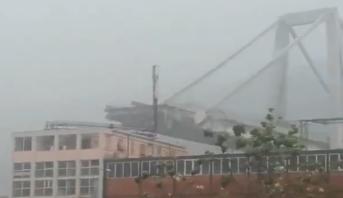 إيطاليا..عشرات القتلى في انهيار جسر للسيارات قرب مدينة جنوا