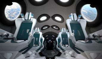 """رحلات تجارية إلى الفضاء .. مركبة """"فيرجين غالاكتيك"""" الفضائية ستجهز بكاميرات سيلفي مع الأرض"""