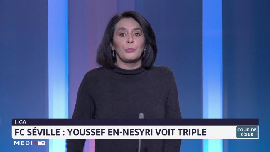 Ligua: Youssef En-Nesyri voit triple