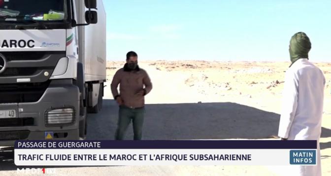 Passage de Guerguarate: trafic fluide entre le Maroc et l'Afrique subsaharienne