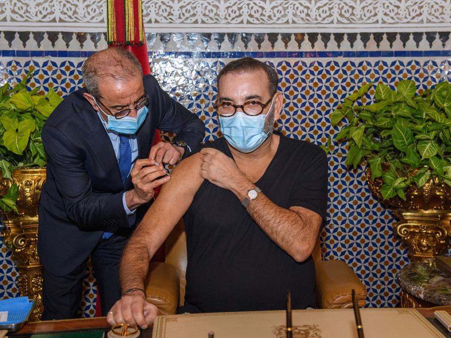 Le Roi Mohammed VI lance la campagne nationale de vaccination contre la Covid-19