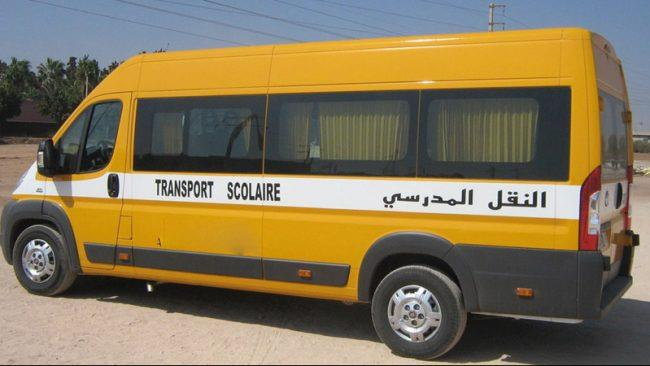 Covid-19: le ministère autorise l'augmentation à 75% de la capacité des véhicules du transport scolaire et du personnel