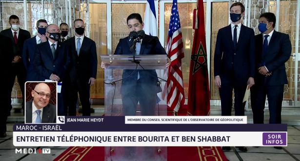 Entretien téléphonique entre Bourita et Ben Shabbat