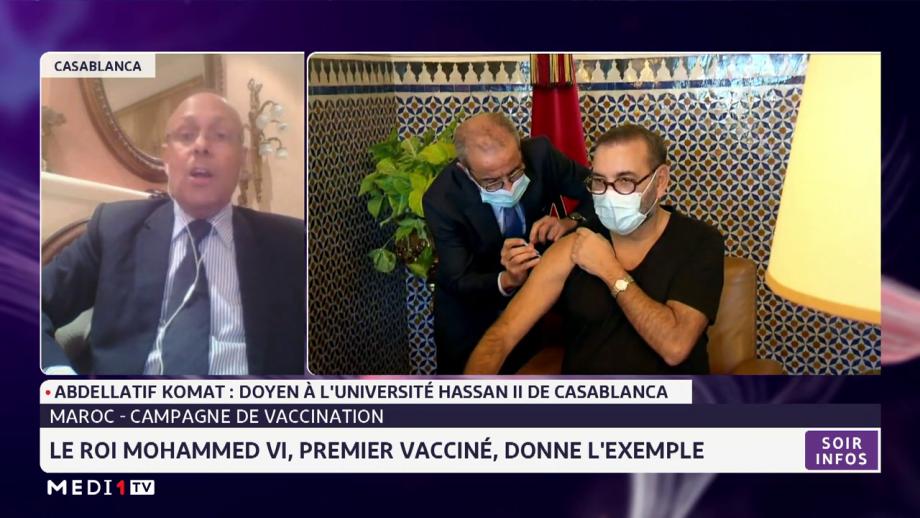 Le Roi Mohammed VI, premier vacciné, donne l'exemple