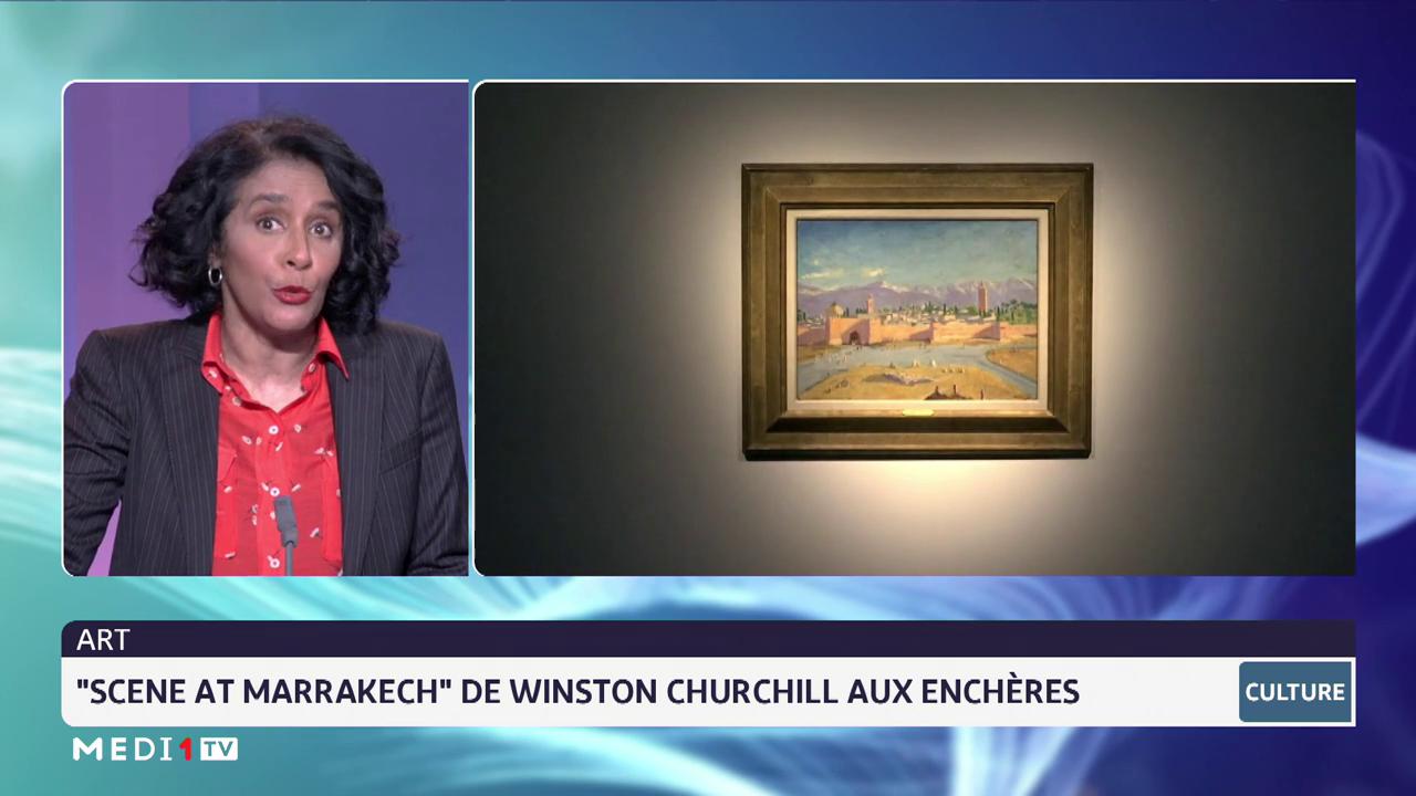 """Art: """"scene at Marrakech"""" de Winston Churchill aux enchères"""