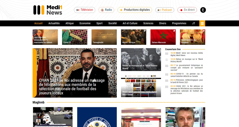 Medi1 lance son nouveau média digital, Medi1News