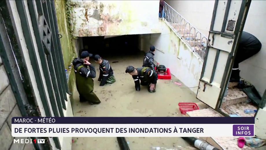 De fortes pluies provoquent des inondations à Tanger