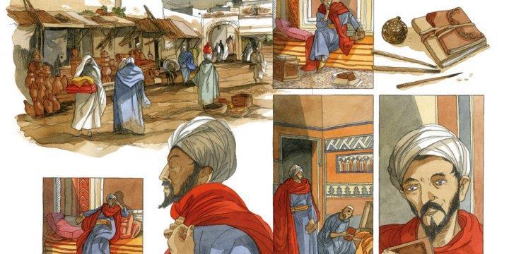 L'entretien de la mi-journée: Les voyages d'Ibn Battuta en bande dessinée