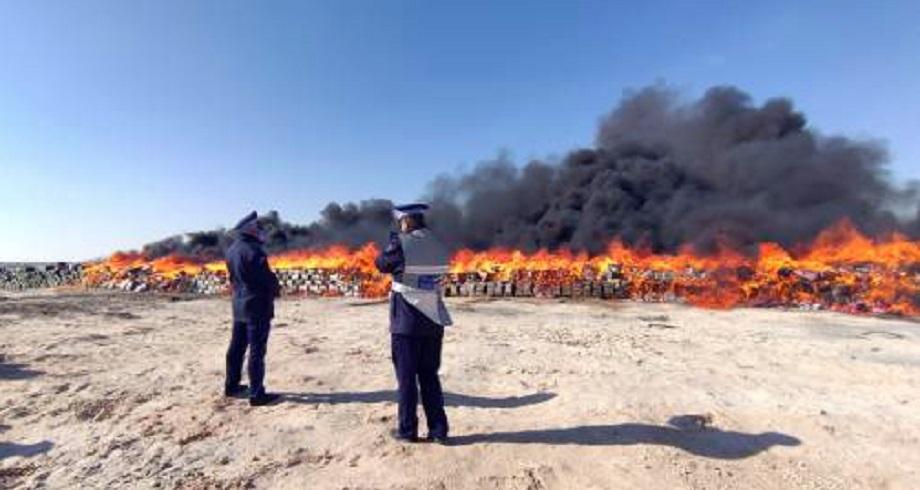 Plus de 20 tonnes de chira incinérées à Dakhla