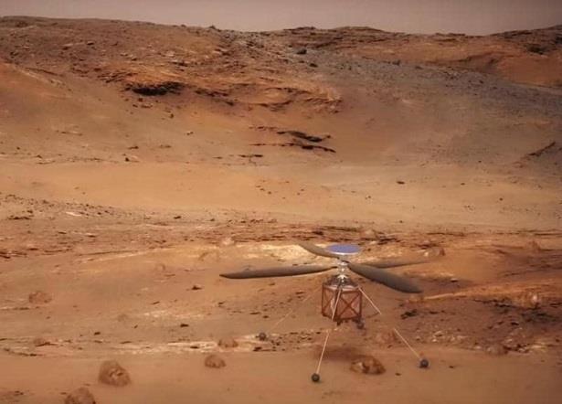 """""""ناسا"""" تسعى إلى جعل مروحية تحلّق في جو المريخ للمرة الأولى"""