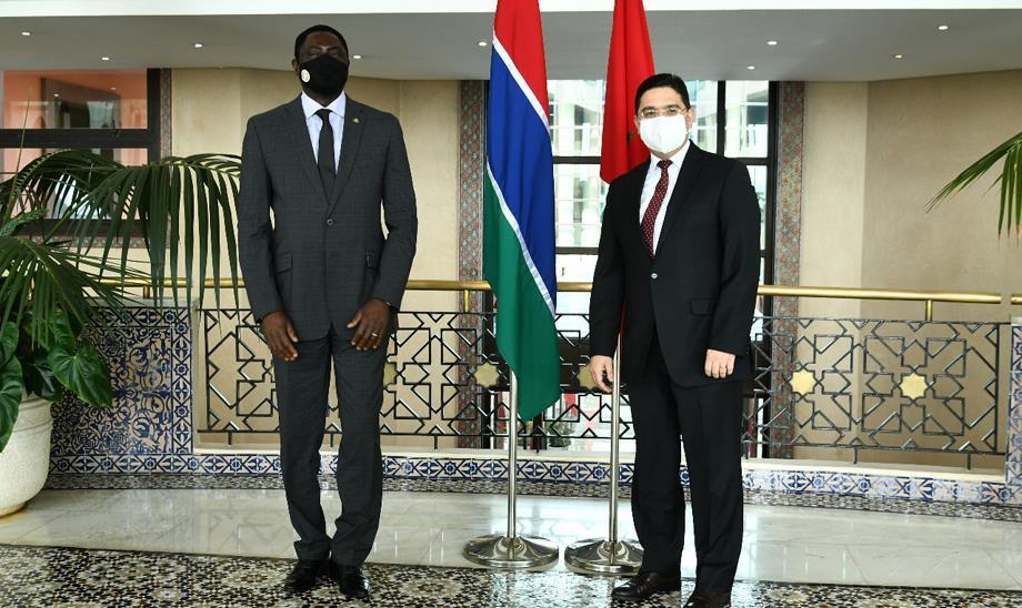 Nasser Bourita reçoit son homologue gambien, porteur d'un message au Roi Mohammed VI