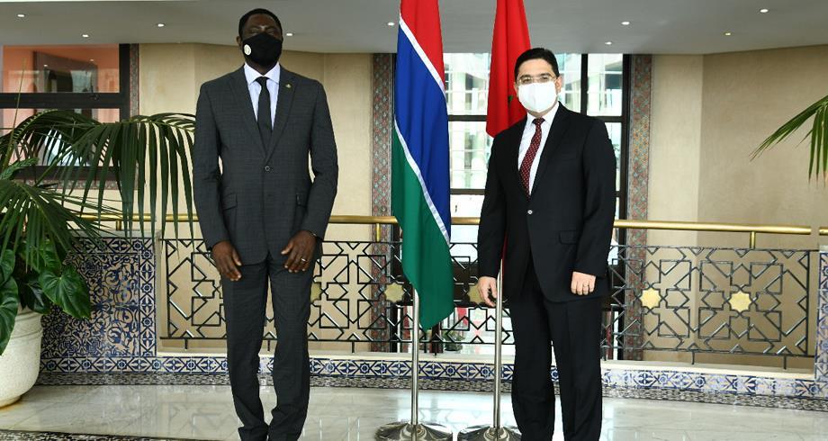 بوريطة يستقبل وزير خارجية غامبيا الذي حمل رسالة إلى جلالة الملك