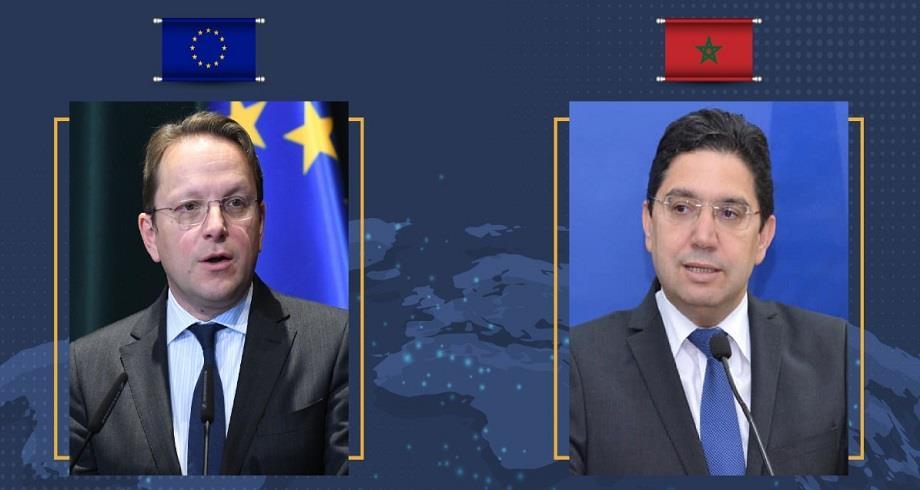 بوريطة يتباحث مع المفوض الأوروبي المكلف بسياسة الجوار