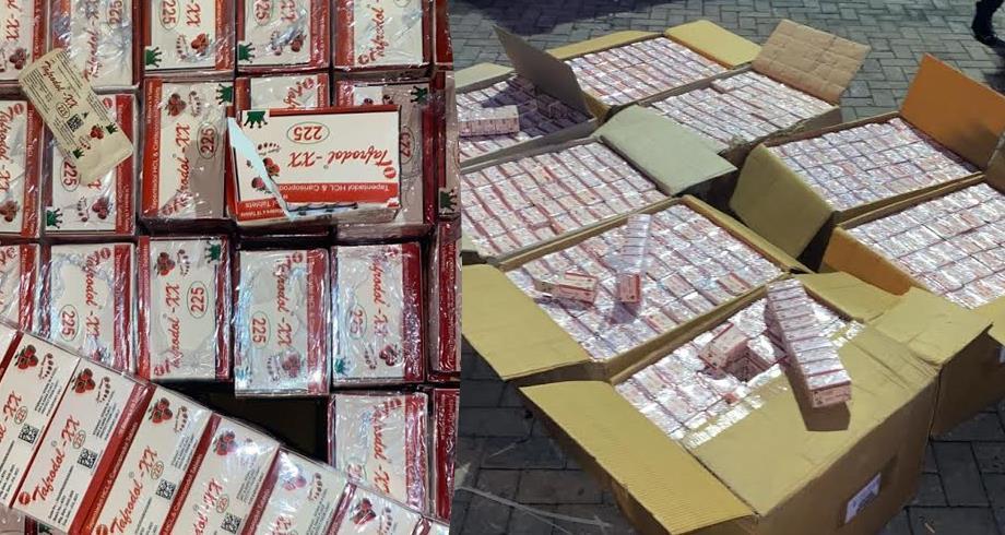 """Exclusif: DGSN saisit de 490.000 comprimés du médicament """"Tafradol"""""""