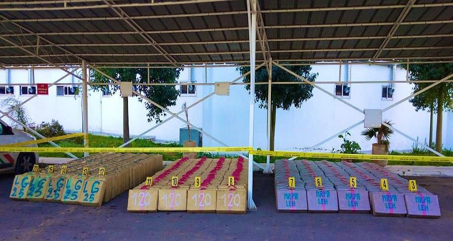 DGSN: mise en échec d'une opération de trafic de drogue et saisie de 9,5 tonnes de chira