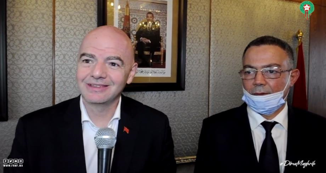 Infantino salue l'engagement du Roi Mohammed VI en faveur du développement du football national