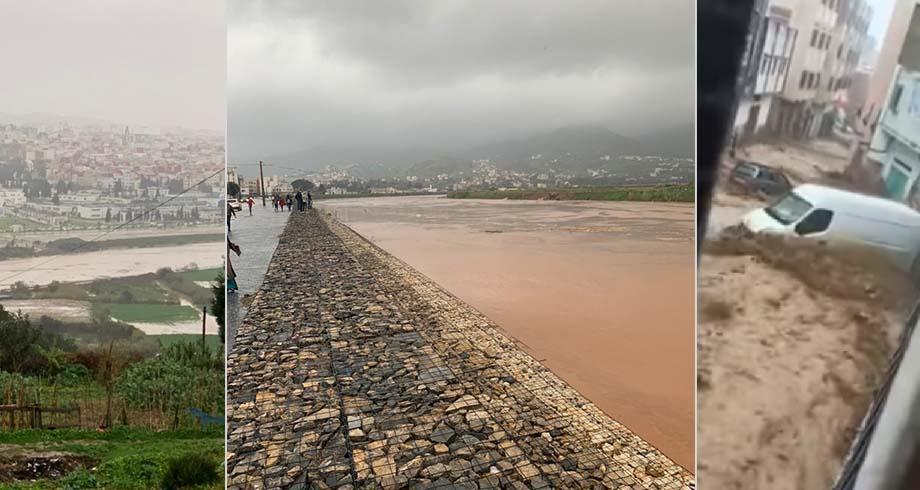 فيضانات وسيول جارفة بمدينة تطوان جراء أمطار غزيرة