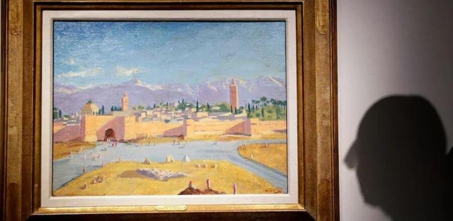 لوحة تشرشل لمسجد الكتبية تباع بـ 7 ملايين جنيه إسترليني في لندن