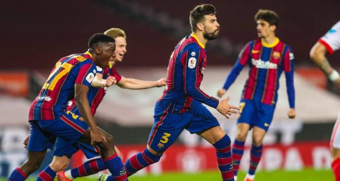 برشلونة يعلن إصابة بيكيه