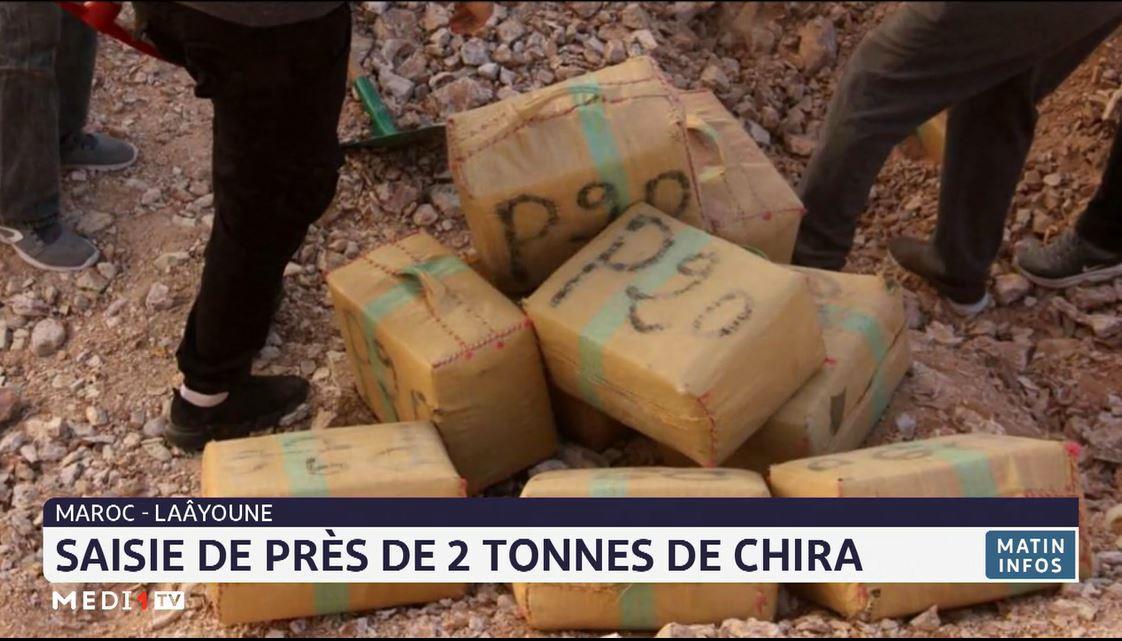 Saisie à Laâyoune de près de 2 tonnes de chira