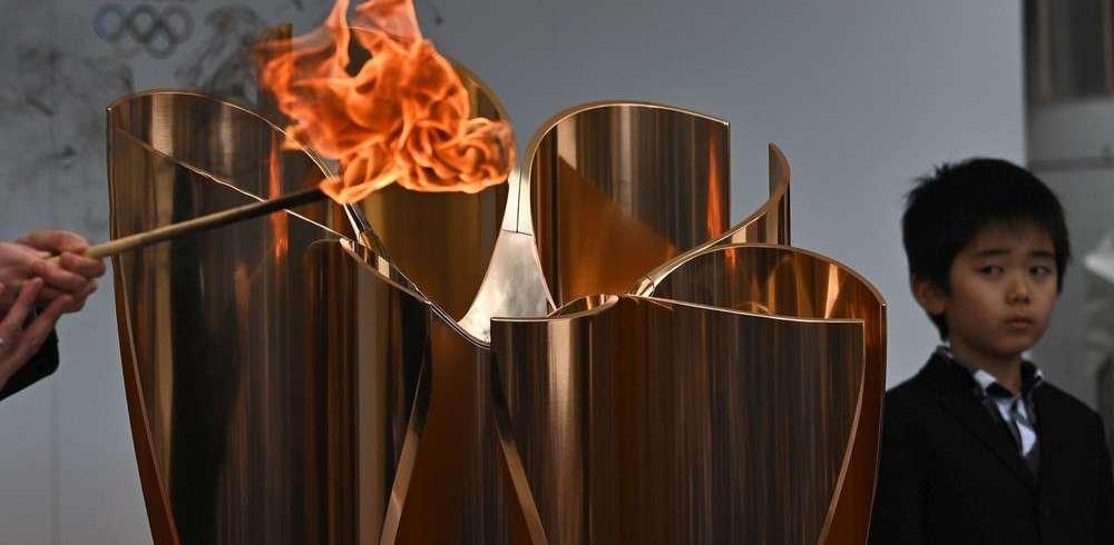 JO de Tokyo: le départ de la flamme olympique sans spectateurs
