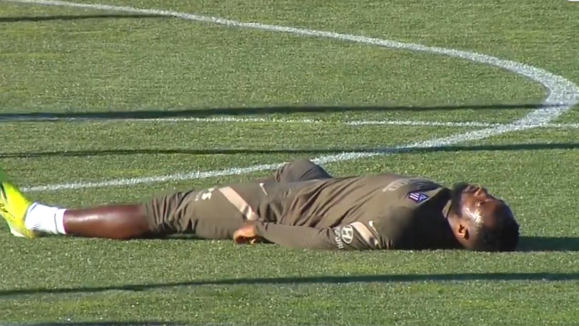 إغماء الفرنسي دمبيلي خلال حصة تمرينية لأتلتيكو مدريد