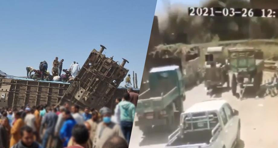كاميرا مراقبة ترصد لحظة اصطدام قطارين في مصر