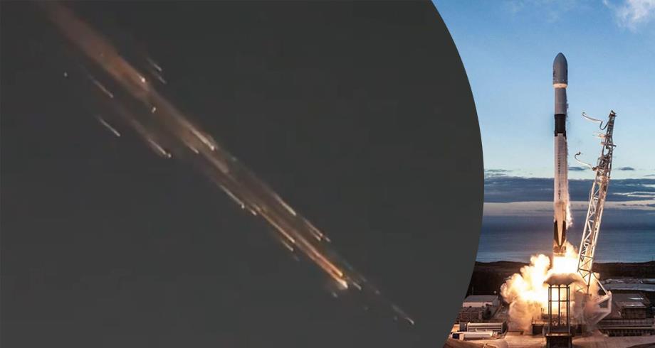 """أجسام مضيئة في سماء الولايات المتحدة يرجح أنها حطام صاروخ """"فالكون 9"""""""