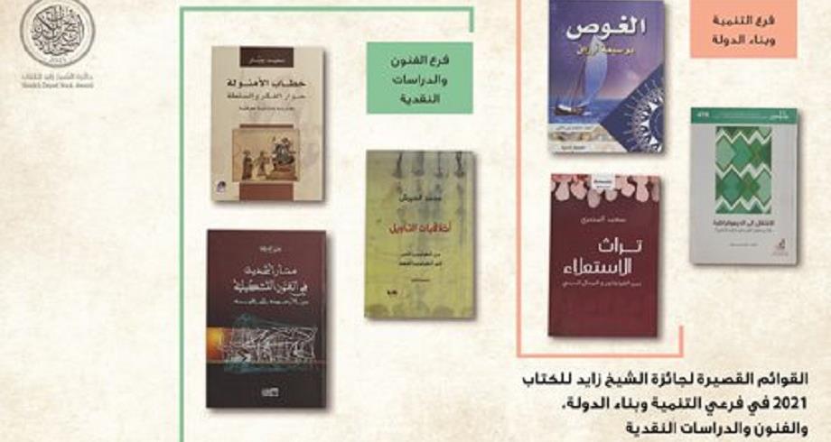 """جائزة الشيخ زايد للكتاب... مغربيان ضمن القائمة القصيرة لفرع """"الفنون والدراسات النقدية"""""""