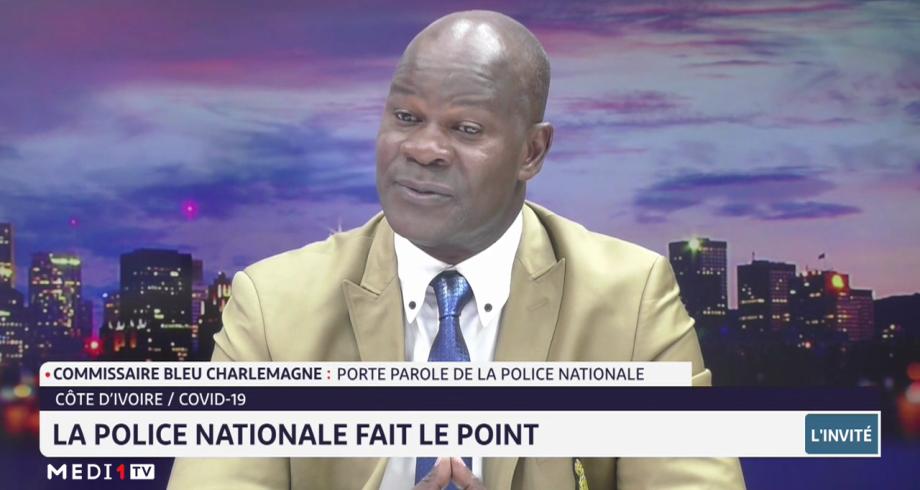 Côte d'Ivoire: la police nationale fait le point sur la Covid-19 avec le commissaire Bleu Charlemagne