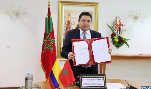 Le Maroc et la Colombie réaffirment la volonté du Roi Mohammed VI et du Président Duque de consolider le partenariat bilatéral